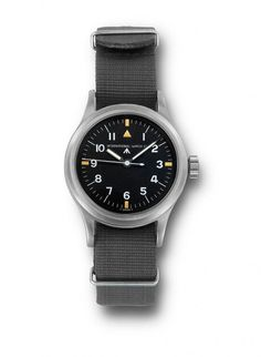 IWC Watches Pilot's Wristwatch Mark 11 with NATO Strap (1948) - IWC developed this service watch for pilots of the Royal Air Force (RAF).  More @ http://www.watchtime.com/featured/time-flies-9-historic-iwc-pilots-watches/ #iwcwatches #watchtime #pilotswatch