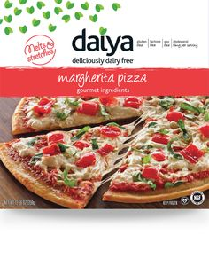Daiya dairy-free cheese pizza with gluten-free pizza crust Dairy Free Pizza, Dairy Free Cheese, Vegan Pizza, Delicious Vegan Recipes, Raw Food Recipes, Healthy Recipes, Why Vegan, Allergy Free Recipes, Pizza