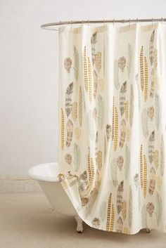 Anthropologie Fallen Quills Shower Curtain #anthrofave
