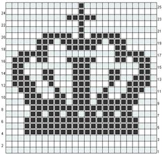 Crown knitting chart