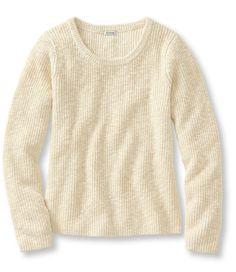 Cotton Shaker-Stitch Pullover: Crewnecks   USD 40 L.L.Bean