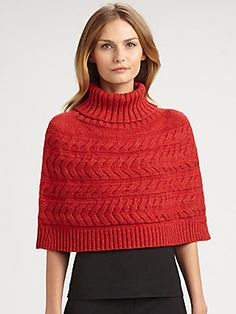 Lafayette 148 New York Cable-Knit Capelet