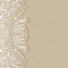 Antecedentes, invitación de la boda o tarjetas de felicitación diseño con patrón de encaje, postal de lujo hermosa, adornada página cubierta, Ilustración de vectores ornamentales