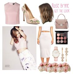 """Rose Bryne"" by kaliforniakatie ❤ liked on Polyvore featuring Simone Rocha, Diane James, Giambattista Valli, Alexander McQueen, MAC Cosmetics, CLUSE and Henri Bendel"