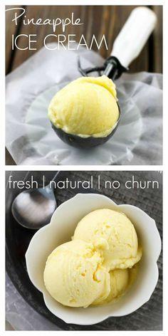 veganrecipecollection:  (via Easy Pineapple Ice Cream   eat healthy, eat happy)