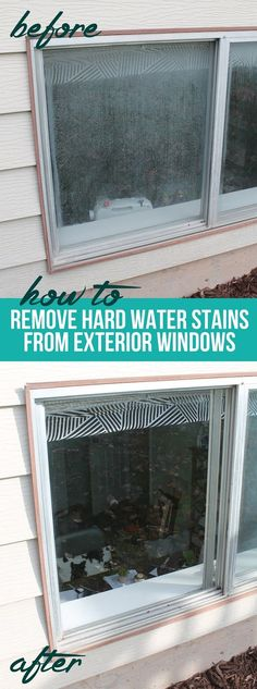cleaning windows How to get hard water build up off of windows. Cleaning tips and tricks. Remove cloudy haze from glass for good! Deep Cleaning Tips, House Cleaning Tips, Cleaning Solutions, Cleaning Hacks, Spring Cleaning, Cleaning Windows With Vinegar, Cleaning Outside Windows, Cleaning Vinegar, Window Cleaning Tips