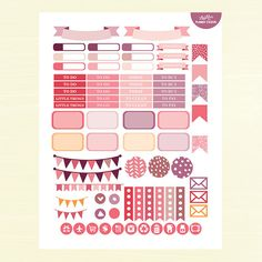 Abstract PRINTABLE Planner Stickers Weekly Kit by AlakazooDesigns