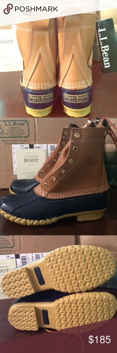 "BRAND NEW‼️8 LL bean boots L.L. Bean Duck NWT 8"" BRAND NEW❤️. LAST PAIR. NWT‼️not even laced yet! PRICED accordingly as they're SOLD OUT for months online!! Any comments about listing price will be blocked  ❤️Size 8 LL Bean fits(8,8.5,9)depending on sock thinness/thickness &personal preference of fit L.L.Bean boot  AUTHENTIC ORIGINAL DUCK BOOT  WOMENS Warm Winter Boots.Medium width  8""inch height   ↪️👢See ""Sizing Info"" Listing 4 more info!↪️ ❤️PERFECT BOOTS 🌲HIGHLY COVETED CHRISTMAS…"