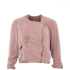 Garcia Cropped Bomber Jacket (2.521.950 VND) ❤ liked on Polyvore featuring outerwear, jackets, coats, pink, women, bomber jacket, garcia, blouson jacket, flight jacket and pink bomber jacket