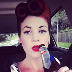 retro makeup and hair. would love to dress up like this once :)