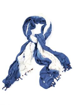 CeciStye v148: Nepali by TDM Design – Bambi Amanda Bamboo Scarf ($110, tdmdesigninc.com) This blue and white bamboo scarf is perfect for warming you on chilly nights roasting s'mores on the beach.