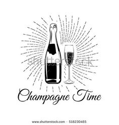 I like the idea of incorporating vector illustrations into the website (and perhaps menu?) Not so much the swirl and cheesy writing, the actual champagne bottle and glass