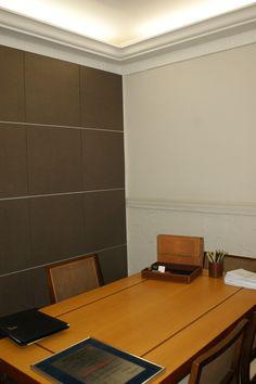 Painel sala de reuniao escritorio de arquitetura