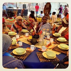 Traditional African wedding centerpieces and decor. www.facebook.com/joburgtents or SecundaTents&Events Prom Decor, Wedding Reception Decorations, Wedding Centerpieces, African Wedding Theme, African Theme, Living Room Decor Traditional, Traditional Decor, Afro, Zulu Traditional Wedding
