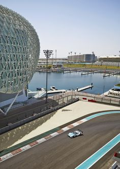 Views of the F1 track and Yas Bay outside your window at Yas Viceroy Abu Dhabi.
