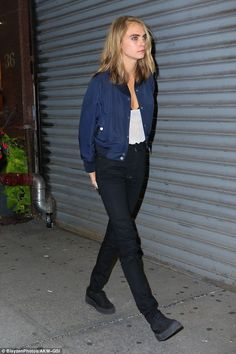 Awkward! Cara Delevingne, 24, arrived at the same party in NYC as her ex girlfriend St Vincent, 34, on Thursday - who was accompanied by rumoured new love Kristen Stewart