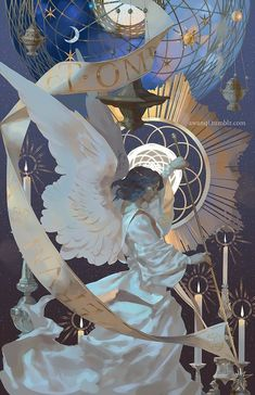 illustration by awanqi Fantasy Anime, Fantasy Kunst, Fantasy Art, Art Inspo, Inspiration Art, Art And Illustration, Anime Kunst, Anime Art, Bel Art