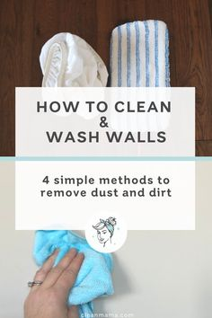 How to Clean and Wash Walls (Clean Mama) Household Cleaning Tips, Cleaning Walls, Cleaning Recipes, Bathroom Cleaning, House Cleaning Tips, Spring Cleaning, Cleaning Checklist, Cleaning Routines, Cleaning Caddy