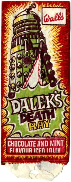 THE FABULOUS WALLS DALEK ICE LOLLY FROM THE 70S