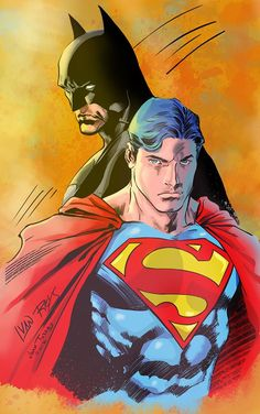 Batman & Superman Art by Ivan Reis