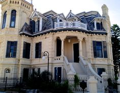 Galveston is home to four historic districts: East End, Silk Stocking, Lost Bayou and The Strand. Take a guided tour of the East End Historic District on an electric shuttle with the Galveston Island Tours, an affiliate of Galveston Historical Foundation. East End is home to various styles and periods of homes -a little of everything, including this castle. Built around the 1890s by John C. Trube - a Dane, the house was inspired by Danish castle. #meetgalveston #galvestonisland #texastourism Texas Tourism, Galveston Island, Silk Stockings, Enchanted Home, Island Tour, Travel Images, Tour Guide, Danish, Liberty