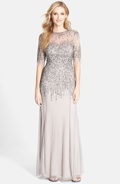 Sparkling Silver Mother of the Bride Dress