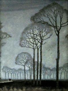 "Jan Mankes, (1889-1920) - ""Row of Trees"" 1915"