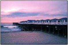 the Crystal Pier Cottages here at sunset in Pacific Beach, San Diego, CA ...a great time~
