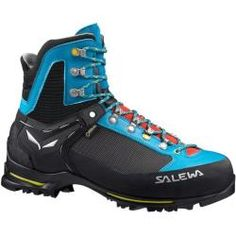 Salewa Women's Raven 2 GTX Mountaineering Boots Ocean/Ringlo 9 & E-Tip Glove Bundle Bushido, Mountaineering Boots, Outdoor Store, Backpacking Gear, Outdoor Woman, Designer Boots, Hiking Shoes, Trekking Shoes, Gore Tex