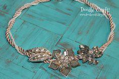 Doodlecraft: Anthro-Inspired Vintage Brooch Necklace!