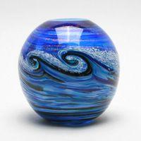 Midnite Surf Ball Vase – Fusion Art Glass Online Store