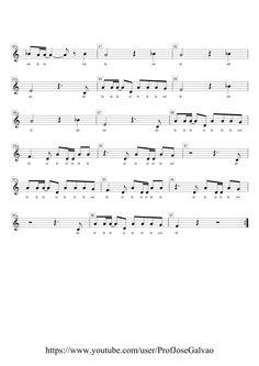 2-2- Pauta para voz ou flauta do tema Diamonds de Rihanna