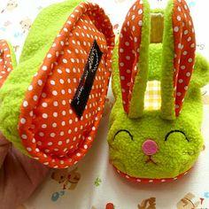 littleoddforest | Funny Bunny MaryJanes (GREEN)
