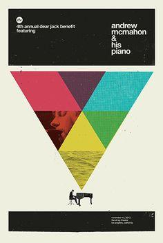 Andrew McMahon & his piano. Poster design: Concepcion Studios (2013).