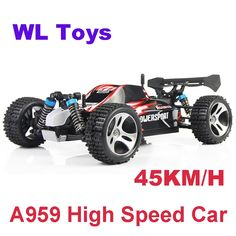 62.99$  Buy here - http://ali7gu.worldwells.pw/go.php?t=32721199727 - Real Electric Rc Drift 4WD Shaft Drive 45KM/H High Speed Remote Radio Control Car 1:18 Monster Buggy WLtoys A959
