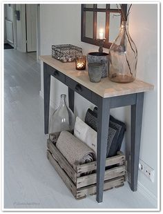 Decorating Your Home, Interior Decorating, Interior Design, Mudroom, My Dream Home, Entryway Tables, Sweet Home, House Design, Furniture