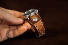 Leather cuff watch brown leather watch Nixon handmade by Bandit Tom Ford Makeup, Brown Leather Watch, Nyx Matte, Matte Lipsticks, Mac Eyeshadow, Vegetable Tanned Leather, Leather Cuffs, Watch Brands, Bracelet Making