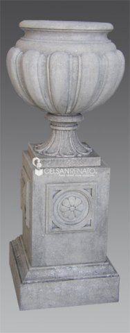 #Classic or #modern #stone vase. Garden Ornaments, Urn, Vases, Fountain, Garland, Planter Pots, Stone, Elegant, Classic