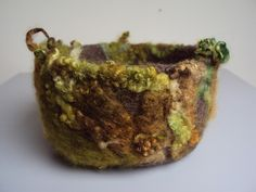 Autumnal Bowl by Witchywoolly on Ravelry, wet & needle felted.