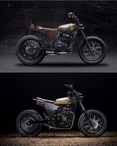 The photoshop concept vs finished build. Scrambler Motorcycle, Motorcycle Parts, Flat Tracker, Custom Cafe Racer, Street Tracker, Honda Cb, Custom Bikes, Cool Bikes, Motorbikes