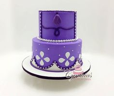 """sofia the first cake   Photo: Sofia the First themed cake!8"""" - 6"""" Buttercream cake with ..."""