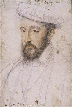 Henri II, roi de France, par Clouet (étude pour le portrait précédent)