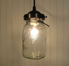 Vintage Canning Jar PENDANT Light by LampGoods on Etsy, $60.00