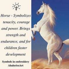 Symbols in embroidery  #Horse - Symbolizes tenacity, courage and power. Brings strength and endurance, and for #children faster development ---------------------------------  #abaloriosart #craft #horses #crafty #artesania #bordado #abalorios #embroidery #beads #beadwork #handmade #picture #pictureoftheday #cute #beautiful #love #art #style #color  #crossstitch #symbols #tips #advice #ideas #justsaying #thoughts #white #nature