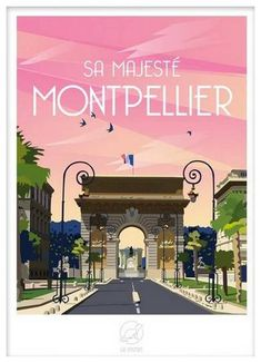 Montpellier, Close Image, Continents, Provence, Deco, Movies, Movie Posters, 2d, Invitation
