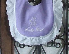 Purple Baby Girl Bib