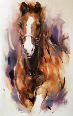 annabel Source by lcrhl Watercolor Horse, Watercolor Animals, Horse Drawings, Animal Drawings, Arte Equina, Horse Artwork, Animal Paintings, Horse Paintings, Pastel Paintings
