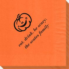 Smiling Pumpkin Napkins