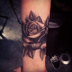 best black rose tattoo, body art, images