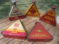 Nice collection of 1930s oil tins